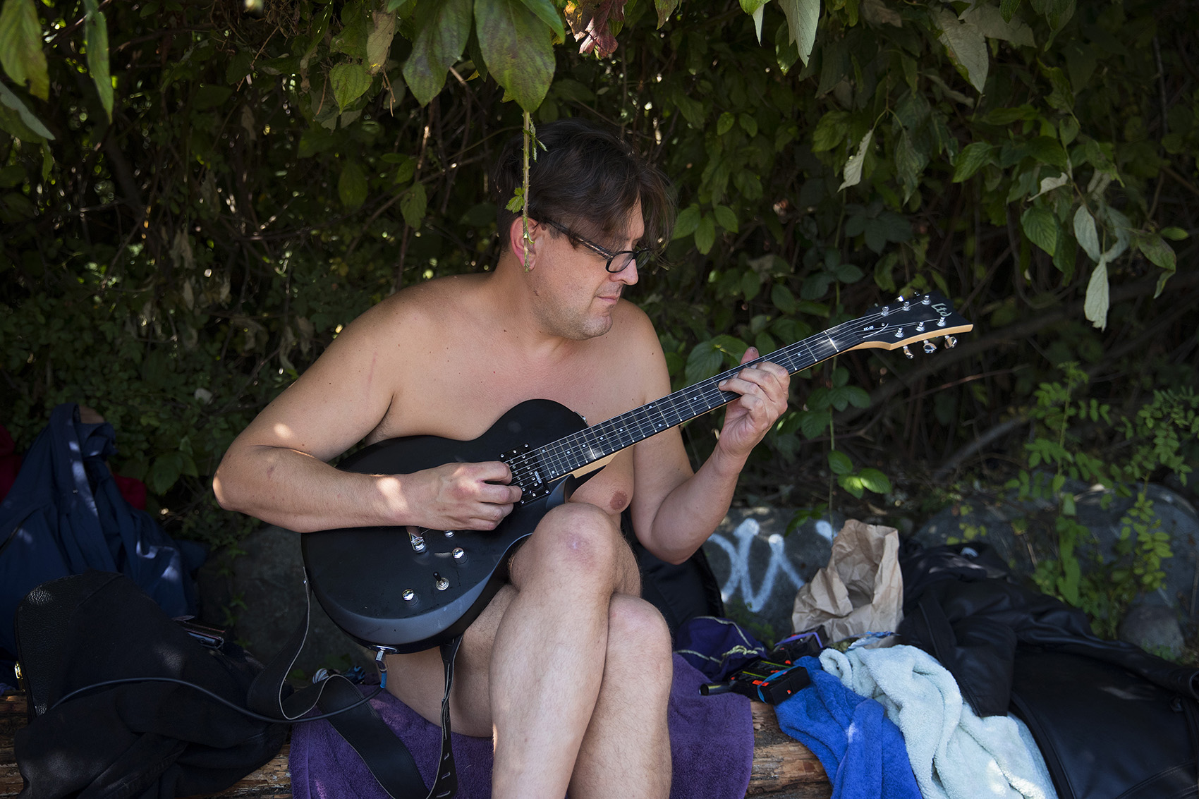 Young nudists playing instruments nude pics